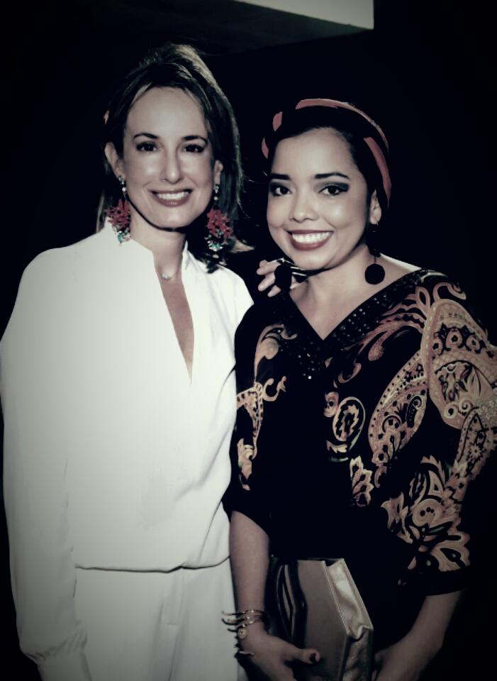 Con Silvia Tcherassi